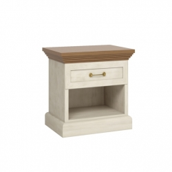 Noční stolek RONA, sosna skandinávská / dub divoký