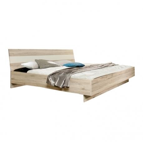 Postel VIA 180x200, dub pískový/bílá