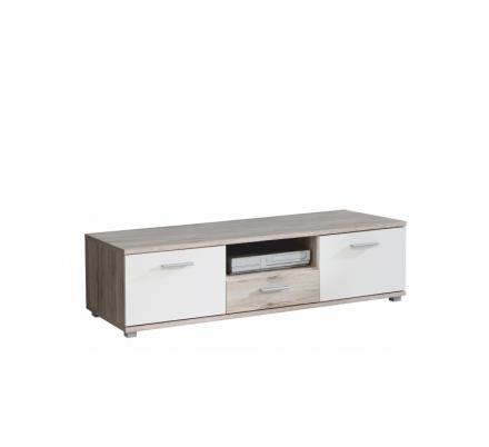 RTV stolek VIA, dub pískový/bílá