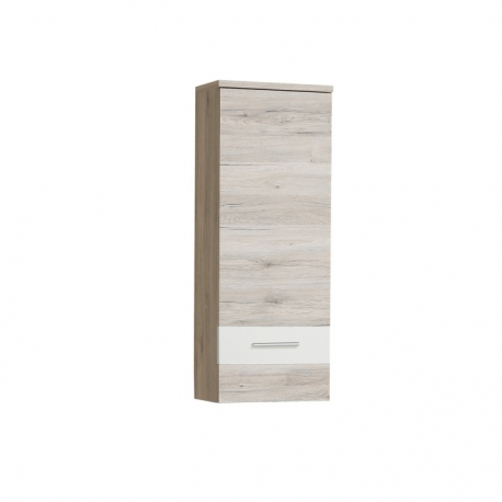 Závěsná skříňka VIA, dub pískový/bílá