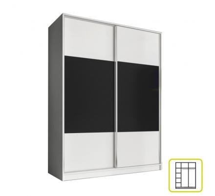 Šatní skříň AL bílá/černá - výběr rozměrů