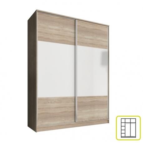 Šatní skříň AL dub sonoma/bílá - výběr rozměrů