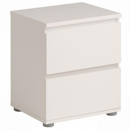 Noční stolek Doble II - bílý