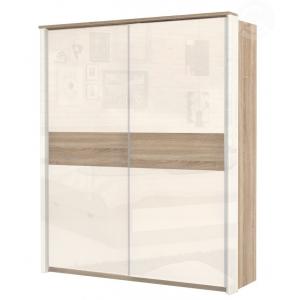 Šatní skříň s posuvnými dveřmi MAMAN 2D, Barva jel - wenge
