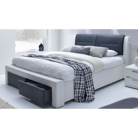 Čalouněná postel Italy 160x200cm - černá/bílá