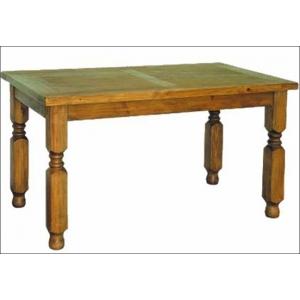 Jídelní stůl z masivu 01 - selský nábytek, Moření K01 - světlá borovice, rozměr 80x80 cm moblewosk