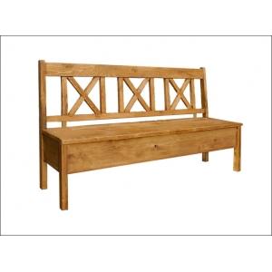 Jídelní lavice 013 - selský nábytek, Moření K01 - světlá borovice, Provedení s úložným prostorem/s područkami MW