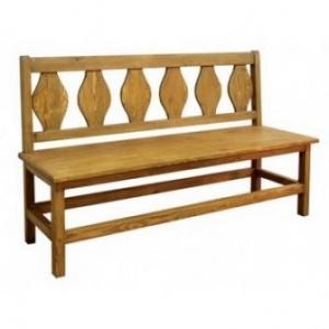 Jídelní lavice 015 - selský nábytek, Moření K01 - světlá borovice, Provedení s úložným prostorem/s područkami MW