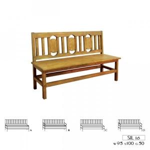 Jídelní lavice 016 - selský nábytek, Moření K01 - světlá borovice, Provedení s úložným prostorem/s područkami MW