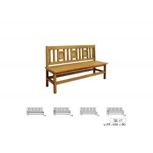Jídelní lavice 017 - selský nábytek, Moření K01 - světlá borovice, Provedení s úložným prostorem/s područkami MW