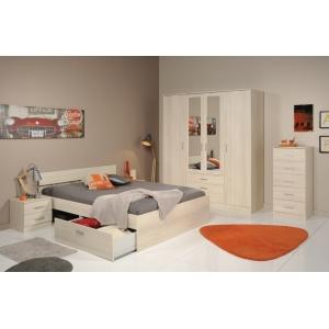 Ložnice General III akácie, Varianta postele 160x200 bez šuplíku