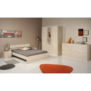 Ložnice General II akácie, Varianta postele 160x200 bez šuplíku