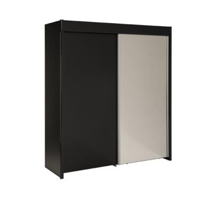 Šatní skříň Sam - černá