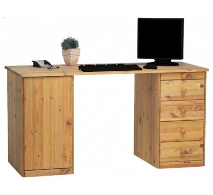 Psací stůl Keren 1D5S - masiv/olejovaný