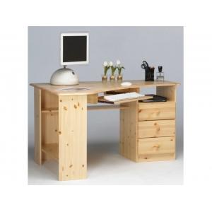 Rohový psací stůl Keren - masiv STE