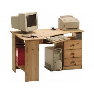 Rohový psací stůl Keren - masiv/olejovaný STE