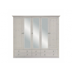 Šatní skříň Moris 5D6S - bílá