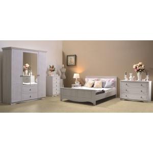 Ložnice Christi - bílá (postel s čelem) PA