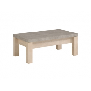 Konferenční stolek Morgan - světlá borovice/šedá
