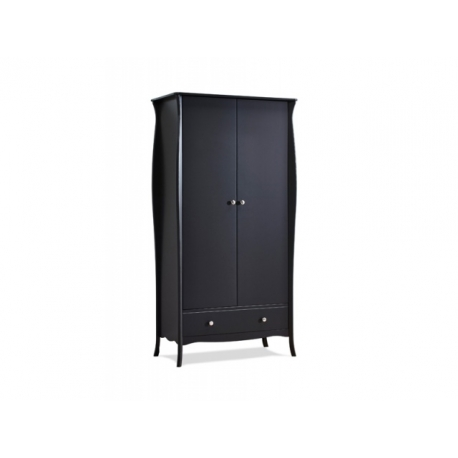 Šatní skříň Baroko 2D1S - černo/hnědá