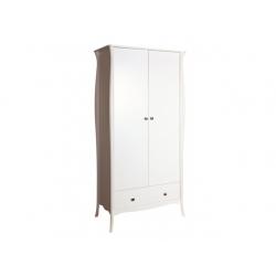 Šatní skříň Baroko 2D1S - bílá
