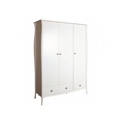 Šatní skříň Baroko 3D3S - bílá