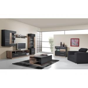 Televizní stolek Moon 8 - ořech baltimore/černá, Barva ořech baltimore/černý lux MELA