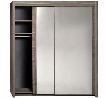 Šatní skříň Clasic 203cm - ořech stříbrný