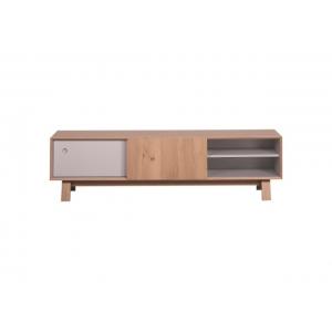 Televizní stolek Nely - přírodní/šedavá PA