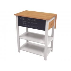 Barový stolek Sajmon - masiv/bílá