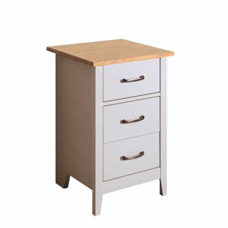 Noční stolek Nicolo - světle šedý