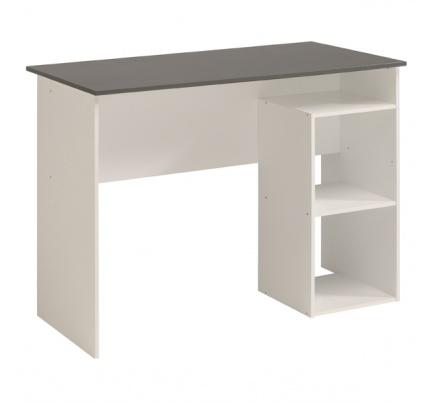 Psací stůl Penny - bílá/šedá