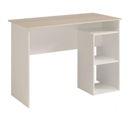 Psací stůl Penny - bílá/akácie