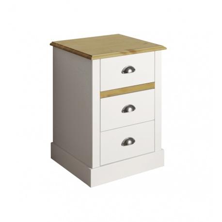 Noční stolek Toskania - bílý/přírodní