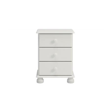 Noční stolek Richie 3S - bílý