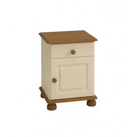 Noční stolek Richie 1S1D - béžová/hnědá