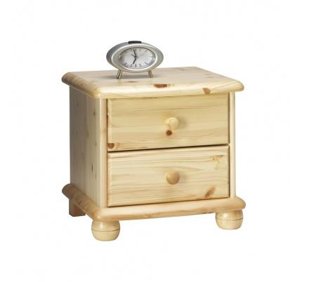 Noční stolek Pele 2S - masiv/lakovaný