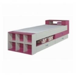 Dětská postel s úložným prostorem Adéla - růžová