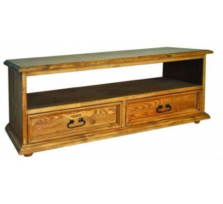 Televizní stolek z masivu 05 - selský nábytek
