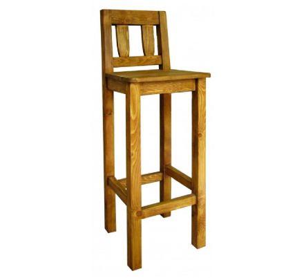 Barová židle z masivu 10 - selský nábytek