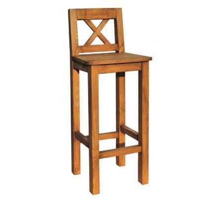 Barová židle z masivu 23 - selský nábytek