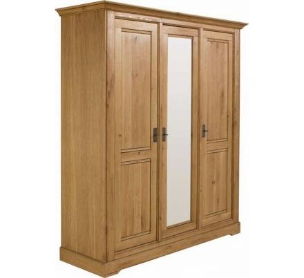 dubová šatní skříň
