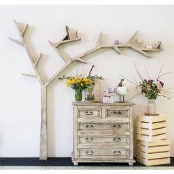 Police ve tvaru stromu - selský nábytek
