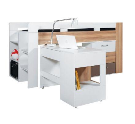Dětská vyvýšená postel s psacím stolem Anabel