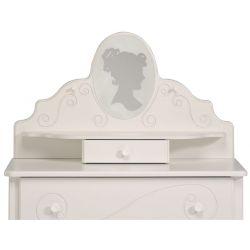 Dětská rustikální toaletka Alice - bílá