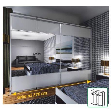 Zrcadlová skříň NARA II bílá / zrcadlo NEW