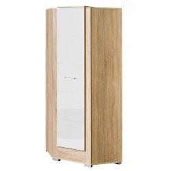 Rohová šatní skříň CANTO lesk
