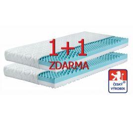 Matrace 1+1 zdarma Odette - 2 tuhosti - antibakter. potah - 7 zón