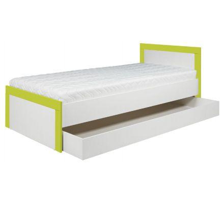 Dětská postel Julien 90x200cm - bílá/zelená