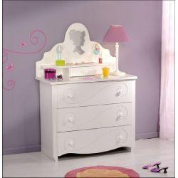 Dětská toaletka Alice - bílá